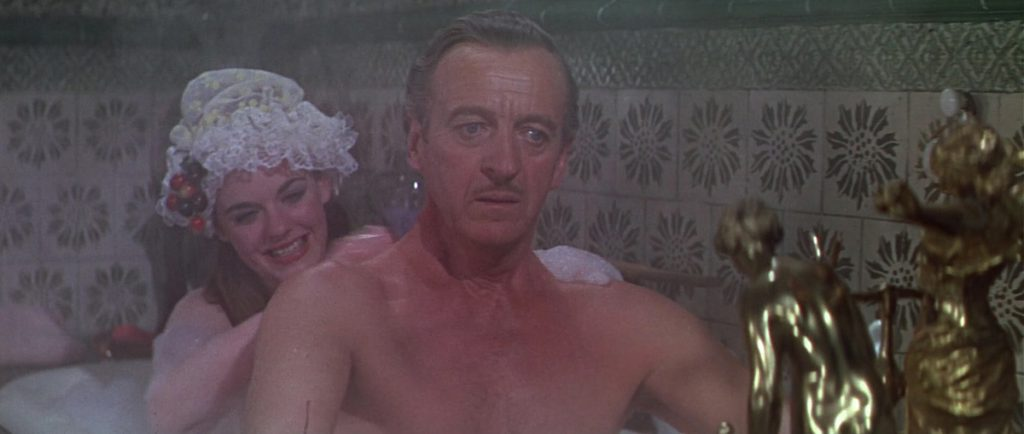 That's not acting - it's David Niven rethinking his career choices.