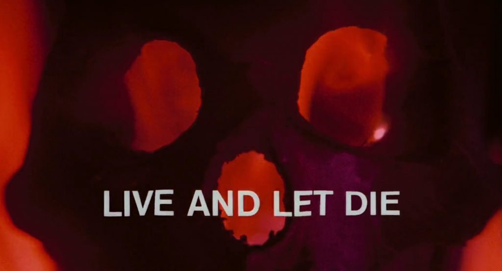 Live and Let Die Title Screen