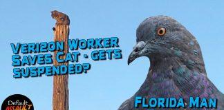 Verizon Worker Saves Cat